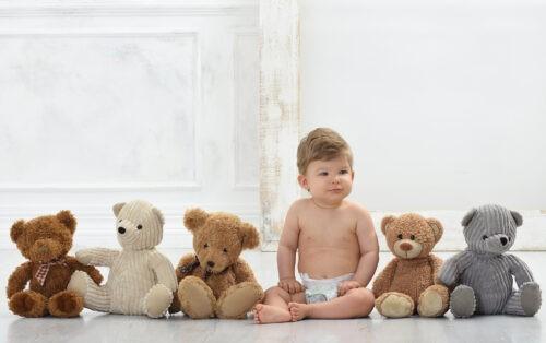 gyermek fotozas muteremben macival